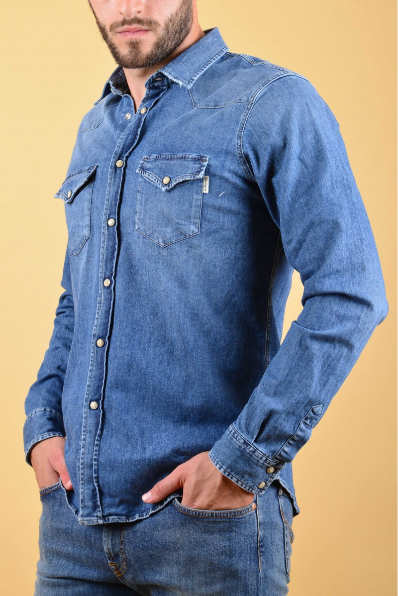 ROY ROGERS CAMICIA JEANS ML...